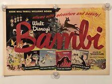 BAMBI Vintage Original Magazine Advertisement - WALT DISNEY