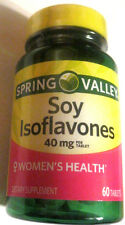 Spring Valley Soy Isoflavones Tablets Pills, 40mg, 60 count