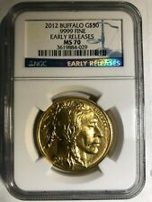 2012 $50 AMERICAN GOLD BUFFALO NGC MS70 Early Releases - Better Date