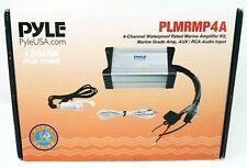PYLE 4-Channel Waterproof Marine Amplifier Kit #PLMRMP4A (NEW in Opened Box)