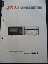 Original Service Manual  Akai Stereo Cassette Deck HX-M5