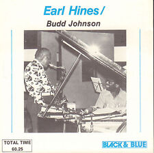 EARL HINES & BUD JOHNSON -   SAME (1992 JAZZ CD REISSUE BLACK & BLUE)