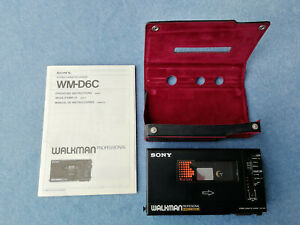 Sony Walkman Professional WM-D6C Cassette Player with case and manual