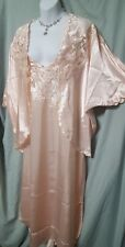 VENTURA ANKLE LENGTH PEACH CHARMEUSE LACE  NIGHTGOWN AND JACKET SIZE 2X