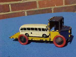 VINTAGE CHAD VALLEY CLOCKWORK COACH & EARLY MECCANO LORRY TRUCK WAGON