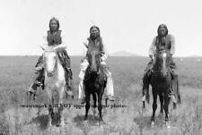 1892 Comanche Warriors Horseback Photo Indian Native American Horses