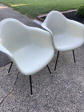 Herman Miller Charles Eames Fiberglass Arm Shell Chairs White