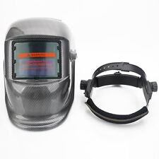 Solar Powered Auto Darkening Welding Mask Helmet Arc Tig Mig Black White Block