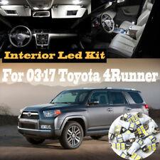 14Pc 6000k White Interior LED Light Kit Package for 2003-2017 Toyota 4Runner