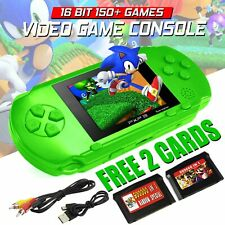 PXP3 Game Console Handheld Portable 16 Bit Retro Video Games 2 FREE Cartridges