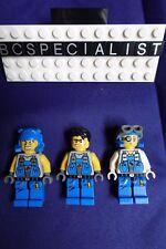 Lot of 3 LEGO Power Miners ROCK RAIDERS Minifigures Brains & Duke