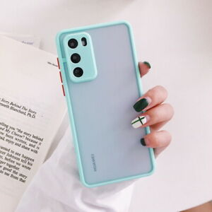 For Huawei P40 P30 Lite P20 Pro P30 Mate 30 20 Shockproof Matte Hard Case Cover
