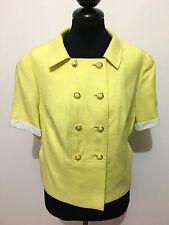 FERNANDA GATTINONI VINTAGE '60 Chaqueta De Mujer Lino Algodon Woman Jacket Sz. L