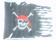 PIRATE FLAG SKULL AND CROSSBONES  A5  IRON ON TRANSFER