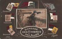 Carte Patriotique Le Langage des timbres des alliés