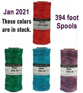 HEMP CORD 10lb 10# test 205 ft + 394 ft Spools Twine ~ LIMITED COLORS ~ 0.5 mm