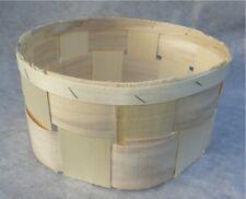 Spankorb rund ca. 25 x 13 cm ohne Henkel Deko Körbchen, Präsentkorb, Pflanzkorb