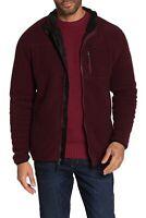 Weatherproof Mens Jacket Red Size Medium M Full Zip Fleece Pocket-Front $70 #102