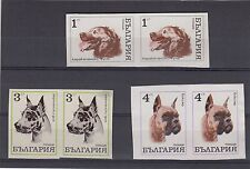 RARE BULGARIAN BULGARIA 1970 IMPERF ERROR VARIETY + BOXER DOG DOUBLE EYE