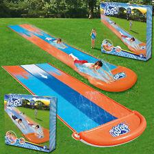 BESTWAY KIDS CHILDREN 16ft H2O Go! SINGLE DOUBLE TRIPLE SLIDER WATER SLIDE FUN