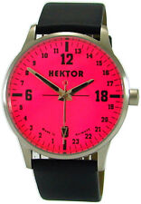 HEKTOR 24h PINK Germany echte 24h unisex Uhr dial 24 hour watch Quarz 5ATM rosa
