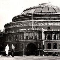 Vintage 1920s RPPC Albert Hall London People Car Postcard UK