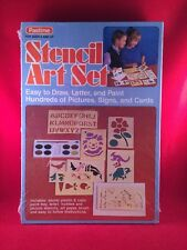 New 1980 Vtg Pastime #355 Stencil Art Set Easy To Draw Letter Paint Pictures