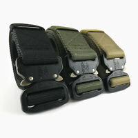 Tactical Belt Military Style Nylon Web Belt Heavy-Duty Quick-Release
