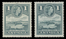 Antigua 1953 QEII 1c in both listed shades superb MNH. SG 121, 121a.