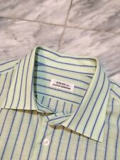 FRAY Per Stanley Korshak Shirt 60% Linen 40% Cotton XL Extra Large Made In Italy