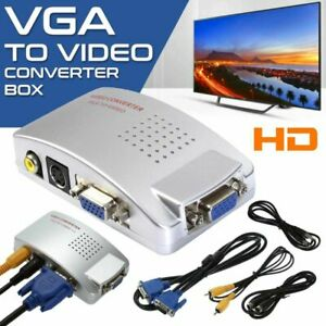 VGA to TV AV RCA Signal Adapter Converter Video Switch Box for Laptop PC
