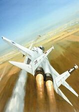 Postcard Aircraft F-15 Eagle - modern card / larg