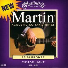 Martin M175 Guitare acoustique cordes 80/20 Bronze Custom Light Gauge .011 - .052