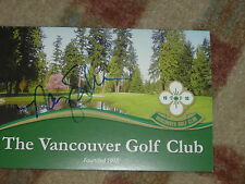 Nancy Scranton Canadian Open Winner Signed Vancouver GC Scorecard
