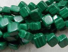 "Fashion 8mm Green Malachite Rhombus Cushion Loose Beads 15"""