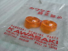 Genuine Kawasaki G1 G1L G1D J1 J1D J1L J1T Turn Signal Lens NOS JAPAN 1 Pair.