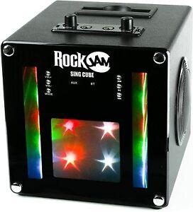 RockJam SingCube Bluetooth Karaoke Machine Rechargeable (B)