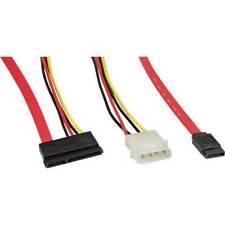 InLine SATA Anschlusskabel mit Daten- und Stromanschluss rot 50+15cm