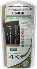 New Monster HDMI Ultra HD 4K Cable Advanced High Speed 4 FT