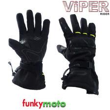 Gants noirs textiles en cordura pour motocyclette