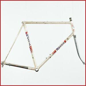 ROSSIN STEEL FRAME SET VINTAGE 80S ROAD RACING BIKE BICYCLE LUGS CLASSIC ITALIAN