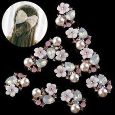 Accessories Rhinestone Button Pearl Hairpin Garment Buckle Flower Buttons