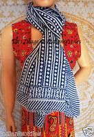 Cotton Long Sarong Dupata Stole Indian Hand Block Print Fabric Women Scarf Gift