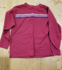 Faded Glory Boys Red Long Sleeve Shirt Size S