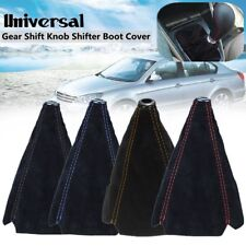 Universal Car Suede PU Leather Gear Stick Shift Shifter Knob Cover Boot Gaiter