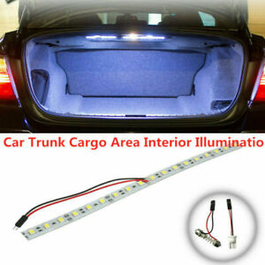 "1PC 12"" T10 Super White HID 18-SMD Strip For Car Trunk Cargo Area LED Light Lamp"