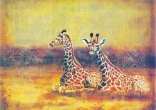 """African Giraffe - A4 size 8""""X12"""" QUALITY Decor Canvas Art Print Poster Unframed"""