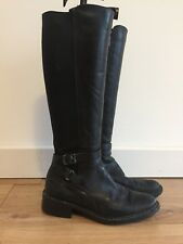 Russell And Bromley Gortex Aquatalia Black Leather Riding Boot 37, 4