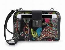 NWT Sakroots Smartphone Wristlet Wallet Crossbody Neon Spirit Desert SHIP INTL