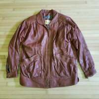 Vintage WB Place & Co Leather Jacket / L to XL / Motorcycle / Mens Coat 1970's